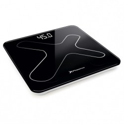 Bascula de baño digital phoenix - pantalla led - peso max 180kg - autoapagado - negra