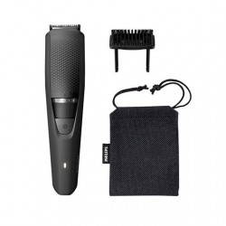 Barbero philips beardtrimmer bt3226 - 14  20 ajustes -  0.5mm -  recorta barba -  cabezal lavable -  funda