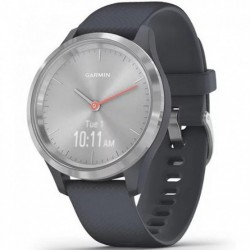 Reloj smartwatch garmin vivomove 3s sport plata grafito - azul